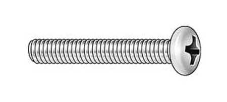 "#4-40 x 1/2"" Round Head Phillips Machine Screw,  100 pk."