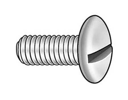 "1/4-20 x 3/4"" Truss Head Slotted Machine Screw,  100 pk."