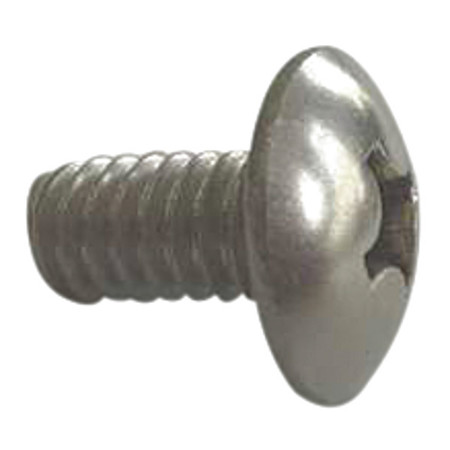 "#4-40 x 1/4"" Round Head Phillips Machine Screw,  100 pk."