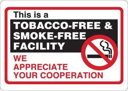 condor no smoking sign tobacco free facility 35gj43 zoro com
