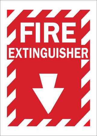 Condor Fire Extinguisher Sign Text And Symbol 35gf95 Zoro