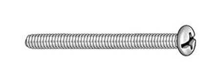 "#6-32 x 3"" Round Head Combination Slotted/Phillips Machine Screw,  100 pk."