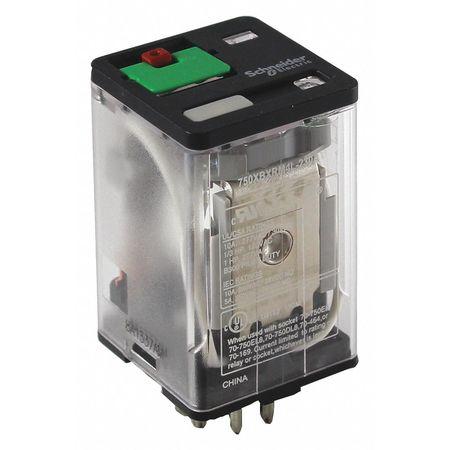SCHNEIDER ELECTRIC 750XBXRM4L-120A Plug In Relay,8 Pins,Octal,120VAC