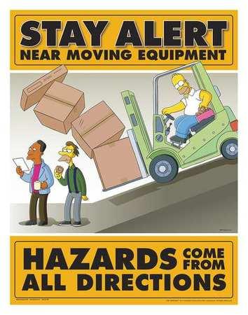 Safetyposter Com Simpsons Safety Pstr Stay Alert Eng