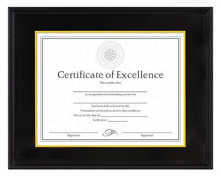 Dax Document/Certificate Frame, 14x11 In. DAX1511TB | Zoro.com