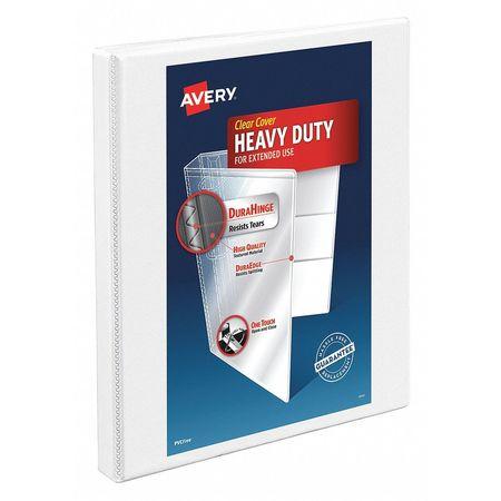 1/2 Slant Ring Heavy Duty Binder, White