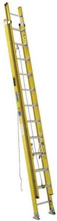 WERNER D7224-2 Extension Ladder, Fiberglass,24 ft, IAA
