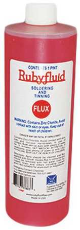36JT57 Soldering Flux, Liquid, 16 oz, Plstc Bottle