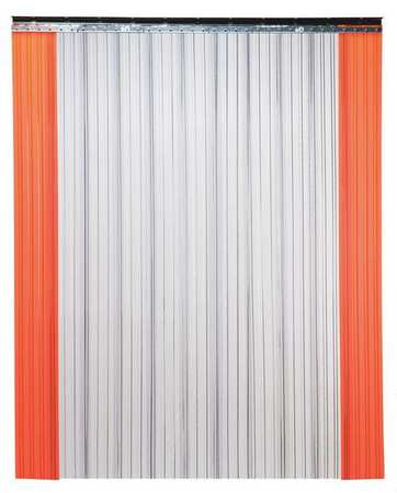 Industrial Strip Door, Ribbed, 8ftHx8ftW