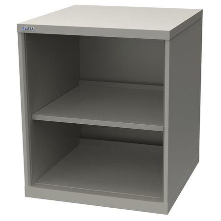 Lista Open Shelf Cabinet 2 Shelves Light Gray Xssc0750 Tsclg Zoro