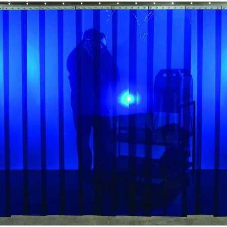 Welding Strip Curtain 8 X Ft Blue PVC
