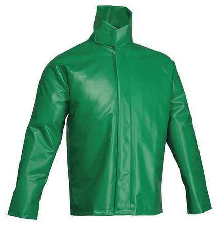 Chemical Splash Jacket, PVC, Green, L