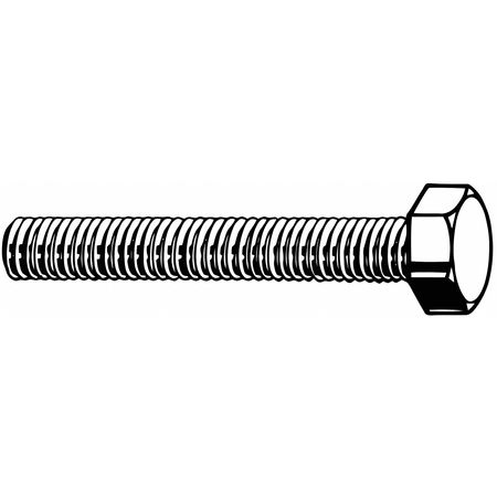 "1/4""-28 x 1/2"" Grade 8 Plain Hex Head Cap Screw,  100 pk."