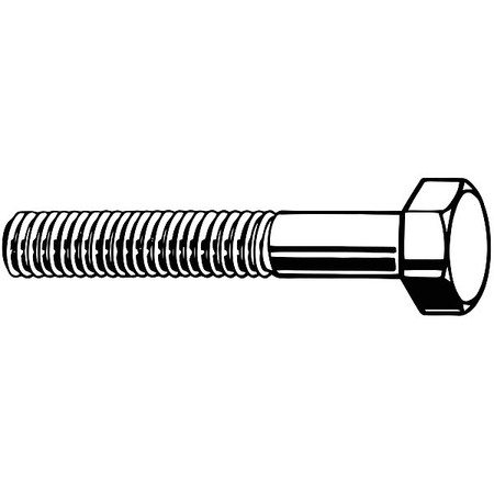 "1/4""-20 x 1-1/4"" Grade 8 Plain Hex Head Cap Screw,  100 pk."
