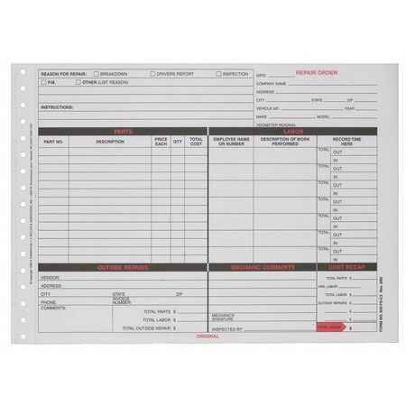 Jj Keller Vehicle Maintenance File Folder   ZoroCom