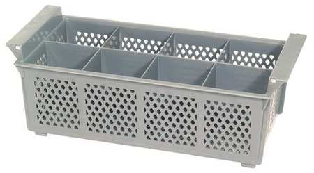 Flatware Basket, Plastic, 8-Compartments