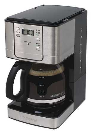 Programmable Coffee Maker,  12 Cup,  Stainless Steel