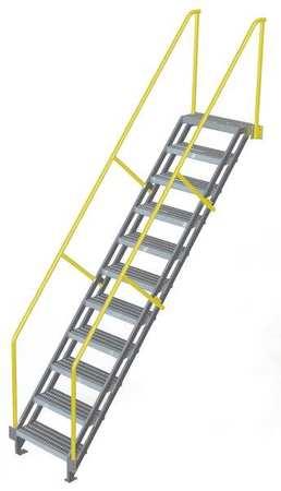 Stair Unit, Aluminum, 11 Steps, 750 Lb. Cap