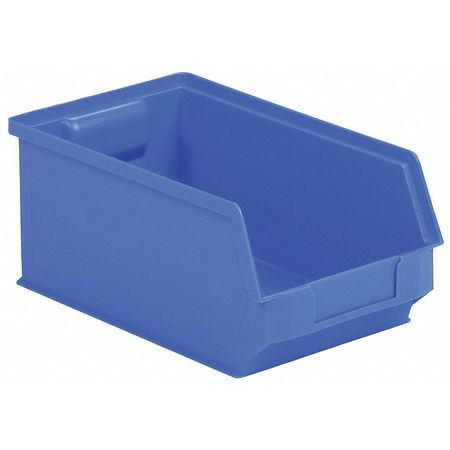 Hopper Bin, Stackable, Blue, 6in.W, 20in.