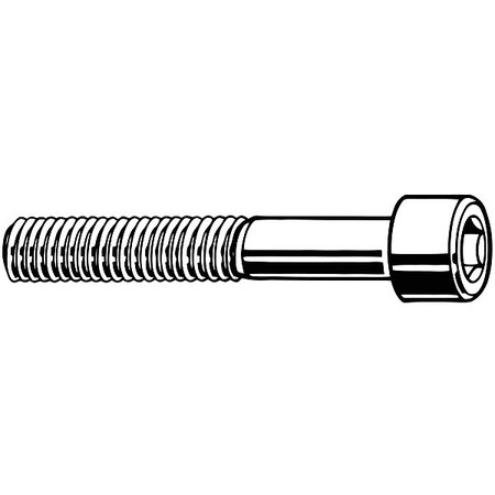 "#10-32 x 3/8"" Zinc-Plated Alloy Steel Socket Head Cap Screw,  100 pk."