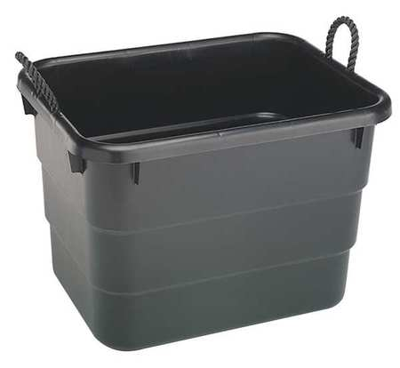Storage Tub, 40 Gal., Polypropylene, Black
