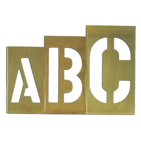 Ch hanson 33 piece brass stencil letter set 10167 zorocom for Metal stencil set letters