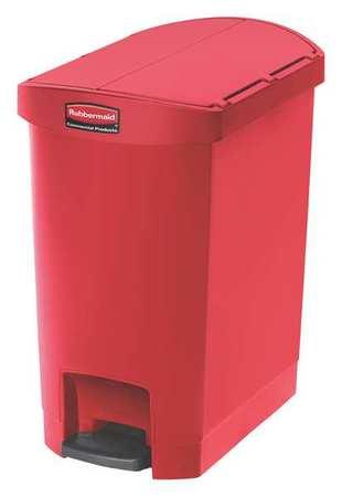 Rubbermaid 8 gal red plastic rectangular wastebasket 1883565 - Rd wastebasket ...
