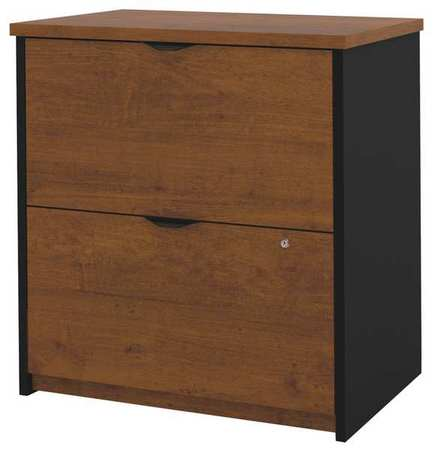 Beau 2 Drawer File Cabinet, Series Innova, Laminate Tuscany Brown/Black