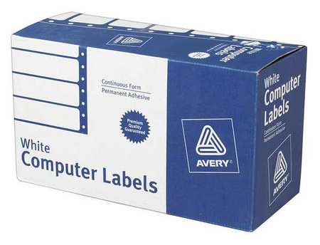 avery avery continuous form computer labels for pin fed printers