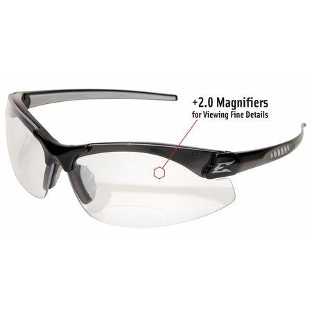 a27a51a6ef2 Edge Eyewear Zorge G2 Reader Eyewear Black Frame And Clear Scratch ...