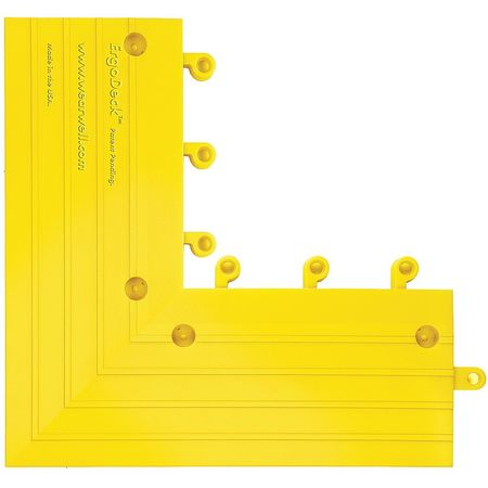Outside Corner, Yellow, 6 in. x 15 in., PK4
