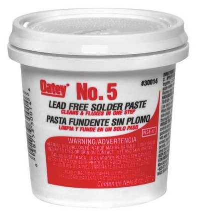 39AN98 Paste Flux, Paste, Petroleum, 8 oz.