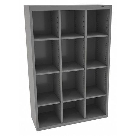 Delicieux Cubbie Cabinet, Med Gray, 13 1/2inDx52inH