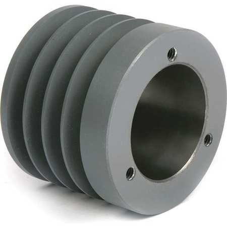"1/2"" - 1-5/8"" Bushed Bore 4 Groove V-Belt Pulley 3"" OD"