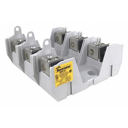 Z0xEsticpEx_ eaton bussmann fuse block, industrial, 100a, 3 pole jm60100 3cr