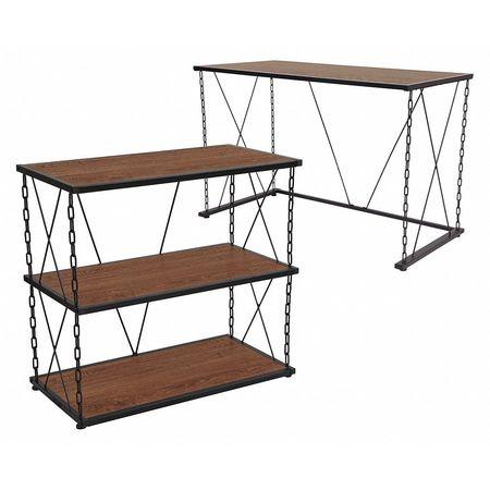 Superieur Wood Desk/2 Shelf Bookcase, Vernon Hills