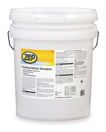 Foaming Vehicle Shampoo, 5 Gallon, Bucket