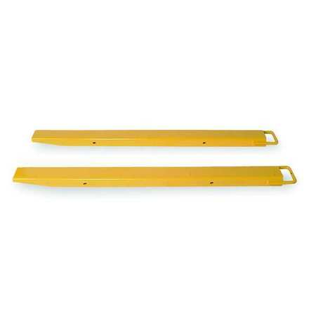 Fork Extensions, Yellow, 4 x 72 In, Pk2