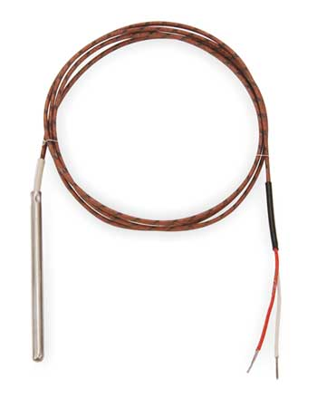 Thermocouple Probe, Type K, Length 12 In