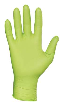 Disposable Gloves, Nitrile, XL, Green, PK50