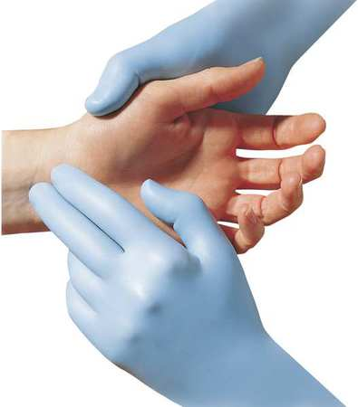 Disposable Gloves, Nitrile, S, Blue, PK50