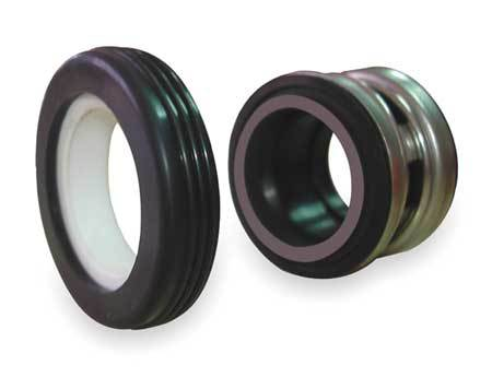 Shaft Seal, 7/8 In,  Buna,  Carbon,  Ceramic