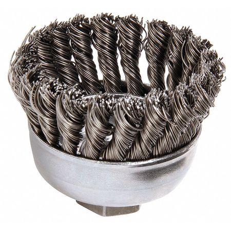 Knot Wire Cup Wire Brush,  Threaded Arbor