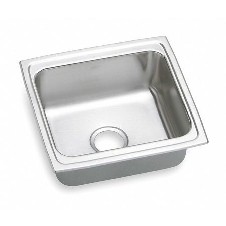 Drop-In Sink w/o Faucet Ledge, 18 In. W