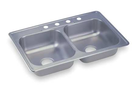 Buy A Kitchen Sink Buy kitchen sinks free shipping over 50 zoro drop in sink with faucet ledge 33 in l workwithnaturefo