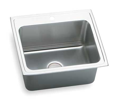 Drop-In Sink with Faucet Ledge, 25 In. L