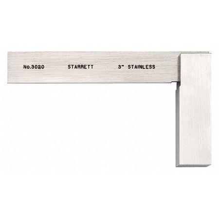 STARRETT 3020-3 Precision Steel Square,SS,3 1//2 x 2 In