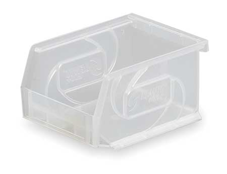 Hang and Stack Bin, 5-3/8 In L, Clear