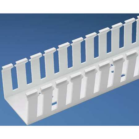 Wire Duct, Wide Slot, White, 4.25 W x 5 D
