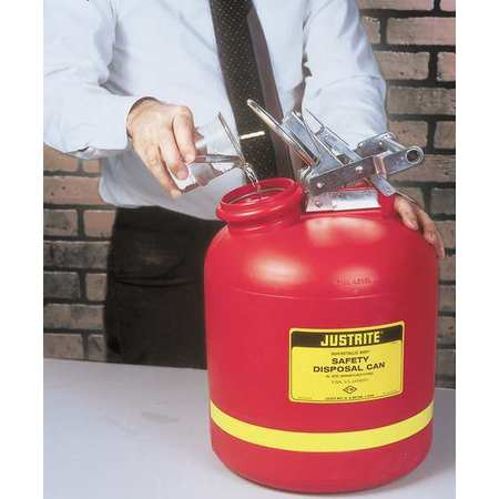 Disposal Can, 5 Gal., Red, Polyethylene